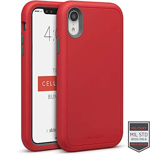 Cellairis - The Cellairis Bundle, Cell Phone Case for Apple iPhone XR (Red), Tempered Glass Screen Protector for Apple iPhone XR