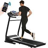 Aceshin Treadmill Folding for Home, Running Machine, Fitness Motorized Treadmills, Smartphone APP Control, Bluetooth, Top Speed 12 KM/H