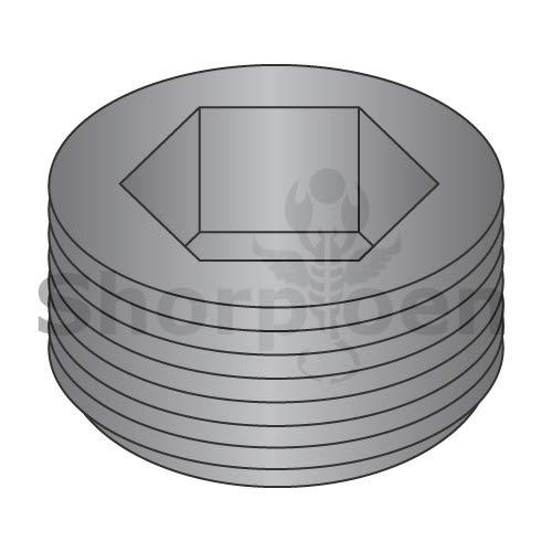 (SHORPIOEN Dry Seal Socket Pipe Plug Plain 1/8 BC-00125PPS (Box of 100))