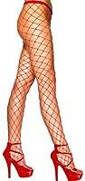 Rauten-Netz-Strumpfhose Rot