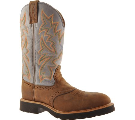 Twisted X Mens Saddle Vamp Pull-on Work Boot Acciaio Punta A Punta Marrone 9 Ee Us