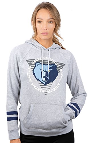 UNK NBA NBA Women's Memphis Grizzlies Fleece Hoodie Pullover Sweatshirt Varsity Stripe, X-Large, ()
