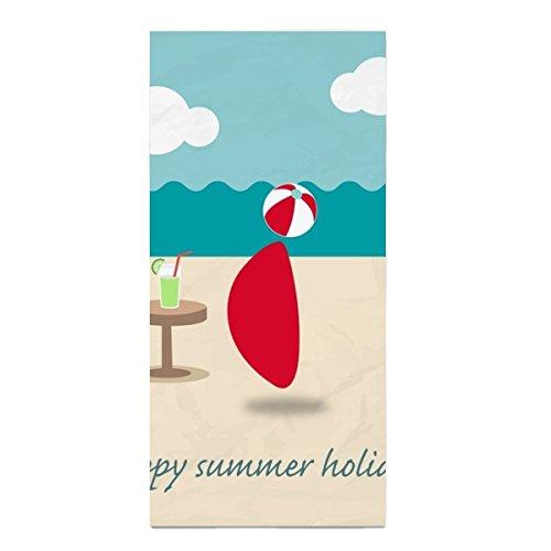 Happy Summer Holiday washcloth Large Hand Towel 11.8 × 27.5