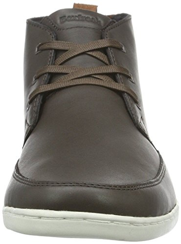 Boxfresh Symmons Sh Brown White Mens Leather Mid Trainers Boots vCU2HK