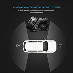 Camera Recorder Car Dash Cam, LESHP FHD 1080p Car Camera Dashboard Camera Driving Recorder DVR for Car Vehicles, Loop Recording