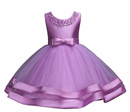 AYOMIS Girls Lace Bridesmaid Dress Wedding Pageant Dresses