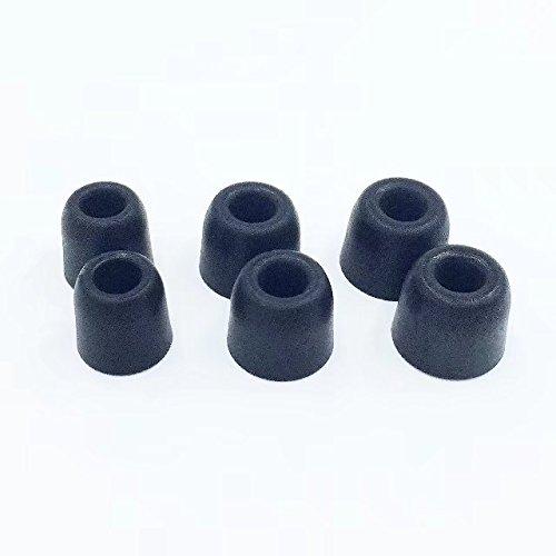 プレミアム通気性メモリーフォームノズルt100交換用イヤホン/イヤホン互換性のヒント3 mm 3.7 MMにイヤホンノイズ、独立性/ Noise Cancellation (ブラック、3ペア、S / M / L、Shure SE 110,112,115,210 B077Y3MKHK