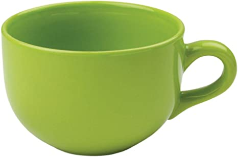 Amazon Com 24 Ounce Extra Large Latte Coffee Mug Cup Or Soup Bowl With Handle Lime Green Citron Coffee Cups Mugs