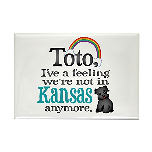 Toto Rectangle Magnet (CafePress Toto Kansas Quote Rectangle Magnet, 2