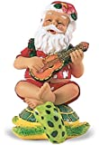 Island Heritage Strumming Santa on Honu Ornament