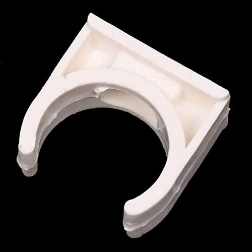 Tuneway 10 Piezas de 20 mm de diametro Clip blanco de PVC de Tubo de agua Suministro de agua Clips de sujecion de tubo