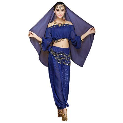 Maylong Women's Long Sleeve Belly Dancing Outfit Halloween