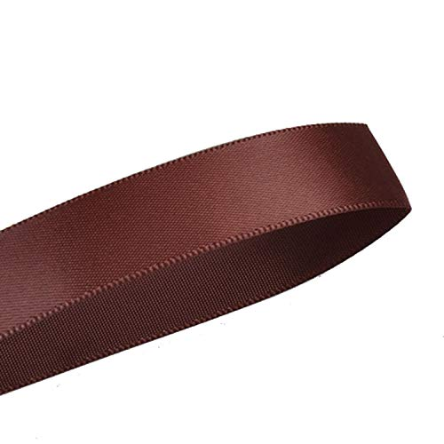(100Yards 6 9 13 16 19 22 Mm Single Face Satin Ribbon Gold Brown Ribbons for Party Wedding Decoration Handmade Rose Gifts,Cappuccino 868,22Mm)