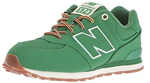 New Balance Boys' KL574V1 Sneakers, Green, 5 M US Big (Balance Runner)