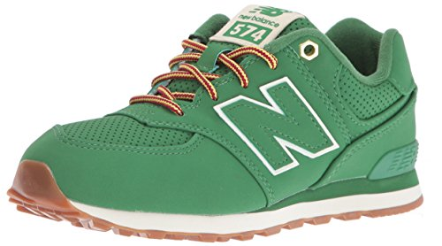 New Balance Boys' KL574V1 Sneakers, Green, 7 M US Big Kid