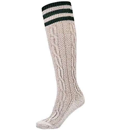Traditional bavarian Lederhosen socks with green stripes size 43