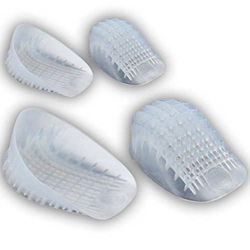 TuliGEL Heavy Duty Heel Cups (Twin Pack) - Extra Comfort and Extra Cushion (Regular, Under 175lbs)