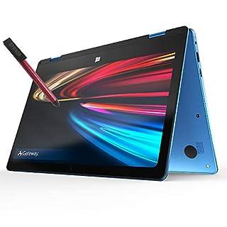 "Gateway 11.6"" FHD 2-in-1 Touchscreen Laptop Computer, Intel Celeron N3350 Up to 2.4GHz, 4GB DDR4 RAM, 64GB eMMC, Webcam, Remote Work, Windows 10 S, BROAGE 64GB Flash Stylus, Office 365 1-Year, Blue"