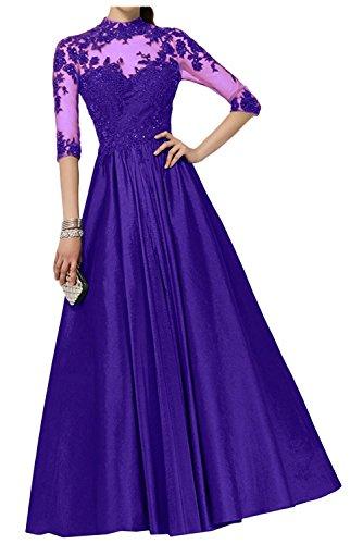 Langarm Regency Partykleider mia La mit Linie Brautmutterkleider Lang Regency Abendkleider Ballkleider Spitze A Braut qxFxwa7S4