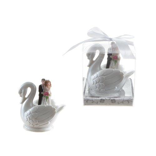 Lunaura Wedding Keepsake - Set of 12 Wedding Couple Standing in Swan Favors