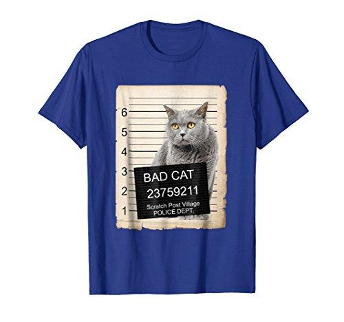 - British shorthair Cat mug shot bad Cat Shirt