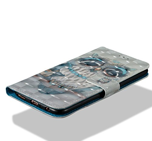 Para Oppo R11 funda, Ecoway pintura 3D caja del teléfono de la PU patrón en relieve ,Función de Soporte Billetera con Tapa para Tarjetas correa - Cloud Kito Búho