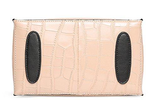 Mujer Xinmaoyuan bolsos verano bolso de moda femenina de cuero bolso de cuero color piedra Bump solo hombro bolsa transversal oblicua Bolsa de Dama, caqui
