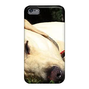Excellent Hard Phone Cover For Apple Iphone 6s With Custom Attractive Sleeping Yellow Lab Image Top10cases