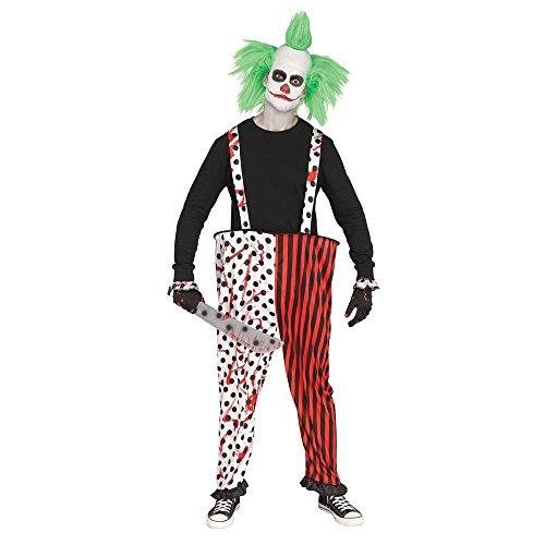 Fun World Adult Killer Clown Halloween Pants & Gloves ()