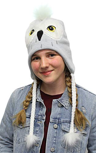 Girl Character Costume Ideas (Harry Potter Beanie Hedwig Owl Costume Laplander Hat Pom Beanie)