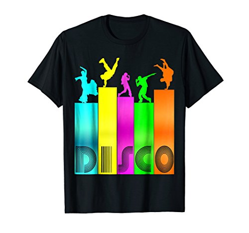 Colorful Disco shirt Roller Disco Vintage Retro 1970s Style