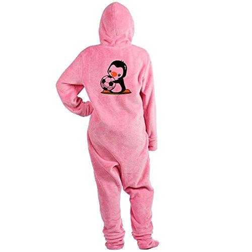 CafePress - I Love Soccer (5) - Novelty Footed Pajamas, Funny Adult One-Piece PJ Sleepwear - I Love Pj