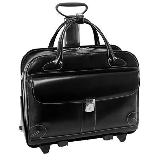 Checkpoint-Friendly Women's Laptop Briefcase, Leather, Mid-Size, Black - Lakewood | McKlein - 96615