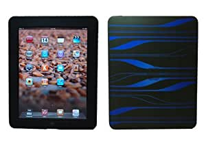 CrazyOnDigital Black Blue Thick Silicon Skin Case For Apple iPad