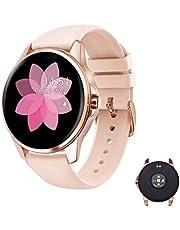 EIVOTOR Smartwatch damski Fitness Tracker zegarek sportowy z pulsometrem, zegarek na rękę, wodoszczelny IP68, licznik kroków, licznik kalorii, monitor snu, monitor aktywności dla systemu Android iOS różowy
