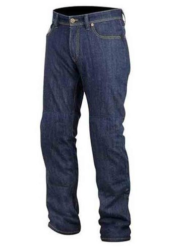 Alpinestars Resist Tech Men's Denim On-Road Racing Motorcycle Pants - Blue / Size 38 by Alpinestars