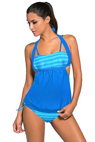 Panda Womens Strips Tankini Swimwear product image