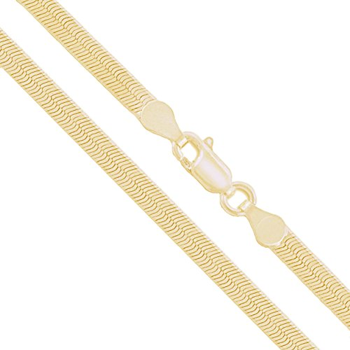 10k Yellow Gold Solid Flat Herringbone Chain 2.85mm Necklace 22""