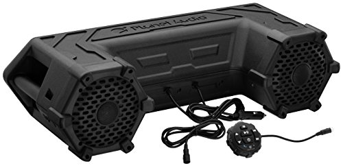 Planet Audio PATV65 Bluetooth, Amplified Sound System, Waterproof Speakers & Tweeters, Bluetooth Remote, Ideal For ATV/UTV (Bluetooth Quad)