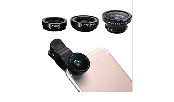 Shot Case Lente Pinza 3 en 1 para iPhone 8 Smartphone Macro Fisheye Gran Angular Metal Pochette Desmontable: Amazon.es: Electrónica