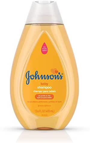 Johnson's Tear Free Baby Shampoo, Free of Parabens, Phthalates, Sulfates and Dyes, 13.6 fl. oz