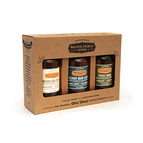 West Coast Cocktail Mixers Gift Box (8oz 3-pack) - Bloody Mary Elixir, Michelada Shrub and Pickle Brine ()