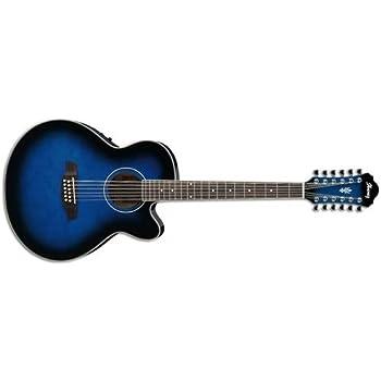 ibanez ael152etbs 12 string cutaway acoustic electric guitar transparent blue. Black Bedroom Furniture Sets. Home Design Ideas
