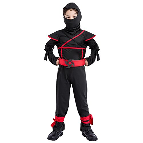 Kids Ninja Costume Set - Boys Halloween Costume Role Play Martial Art Dress Up