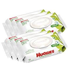 Care for your baby's delicate skin from the very start with HUGGIES Natural Care Baby Wipes. Safe for sensitive skin, Natural Care Wipes contain 99% triple-filtered water for a pure, gentle clean. Plus, they are pH-balanced to help maintain y...