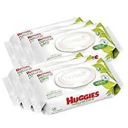 Care for your baby's delicate skin from the very start with HUGGIES Natural Care Baby Wipes. Safe for sensitive skin, Natural Care Wipes contain 99% triple-filtered water for a pure, gentle clean. Plus, they are pH-balanced to help maintain your newb...