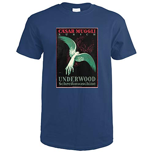 Underwood Vintage Poster (artist: Moos, Carl) Switzerland c. 1918 65581 (Navy Blue T-Shirt X-Large)