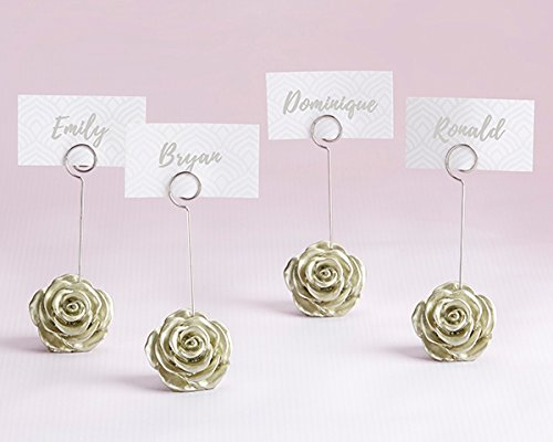 96 Light Gold Rose Place Card Holders by Kate Aspen (Image #1)