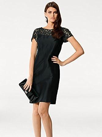7ae38957287293 Patrizia Dini Damen Designer-Seidenkleid, schwarz: Amazon.de: Bekleidung