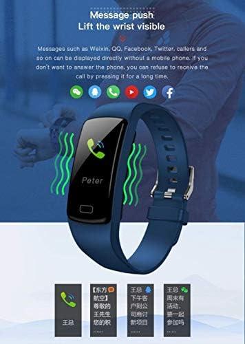 Bracciale Viola Bracciale impermeabile Smart Smart Belt frequenza cardiaca Tracker Tracker Fitness Aggiungi,rosso
